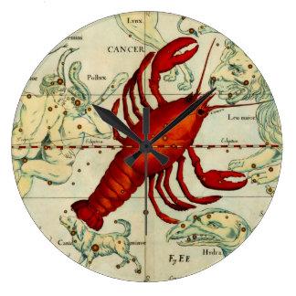Diseñador del vintage del mapa de estrella de la a reloj