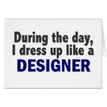 Diseñador durante el día tarjeta
