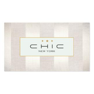 Diseñador elegante del boutique de la moda rayado plantillas de tarjetas de visita