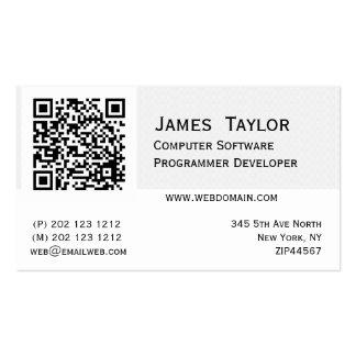 Diseñador elegante formal del informático plantilla de tarjeta personal
