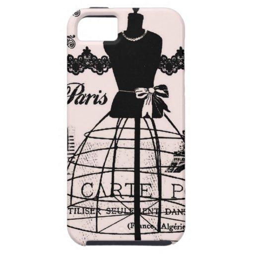 Diseñador femenino de París inspirado iPhone 5 Fundas