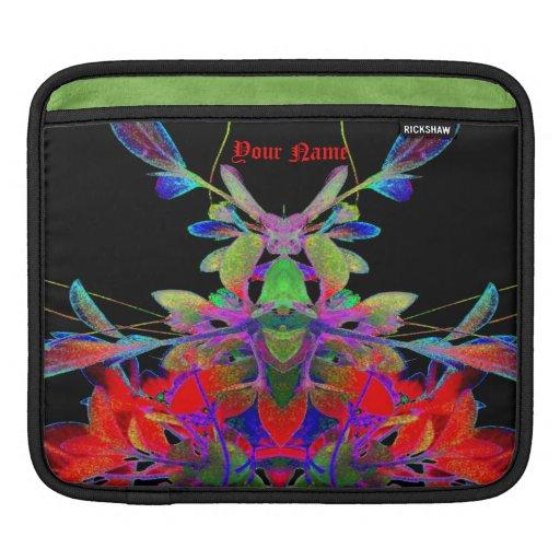 Diseñador floral psicodélico del extracto de la ca fundas para iPads