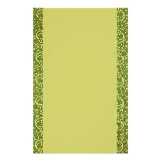 Diseñador floral Statione del verde verde oliva Papeleria