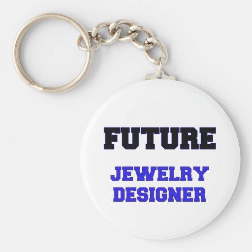 Diseñador futuro de la joyería llavero redondo tipo pin