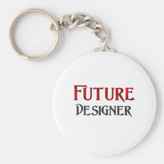 Diseñador futuro llavero redondo tipo pin