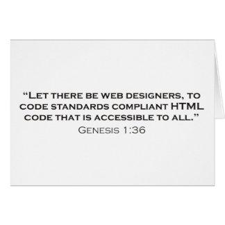 Diseñador/génesis del Web Felicitación