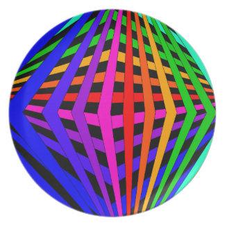 Diseñador geométrico 1 moderno del espectro del plato