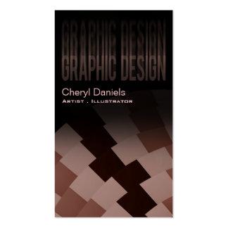 Diseñador gráfico artístico de moda moderno de tarjetas de visita