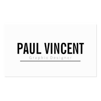 Diseñador gráfico blanco llano profesional simple tarjetas de visita