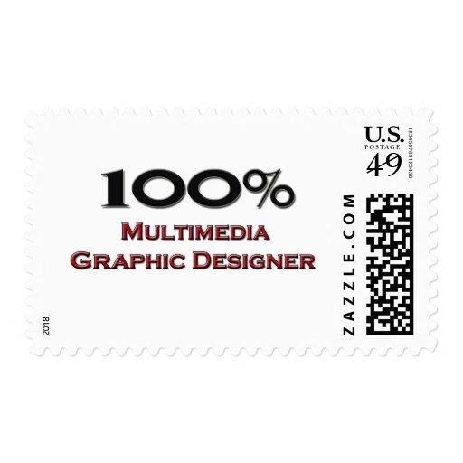 Diseñador gráfico de 100 multimedias del por sellos