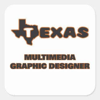 Diseñador gráfico de las multimedias de Tejas Pegatina Cuadrada