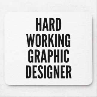 Diseñador gráfico de trabajo duro alfombrilla de ratón