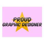 Diseñador gráfico orgulloso postales