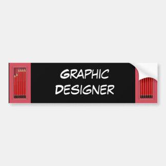 Diseñador gráfico pegatina para auto