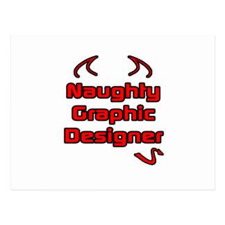Diseñador gráfico travieso postales