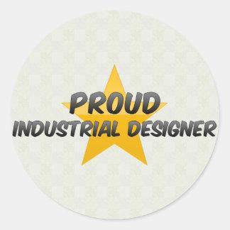 Diseñador industrial orgulloso pegatina redonda