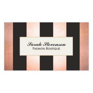 Diseñador intrépido y atractivo del boutique de la plantilla de tarjeta de visita