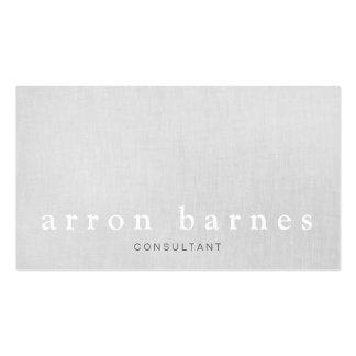 Diseñador minimalista moderno gris claro simple tarjetas de visita