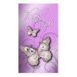 Diseñador multiusos de las mariposas bonitas plantilla de tarjeta personal