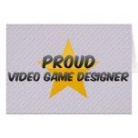 Diseñador orgulloso del videojuego felicitaciones
