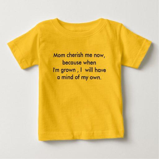Diseñador por la camiseta del bebé de Rita Portee Remeras