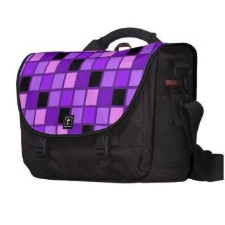 Diseñador púrpura del Harlequin de la lavanda del  Bolsas De Portatil