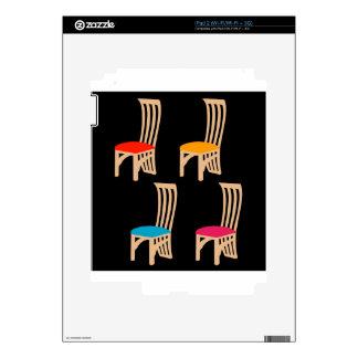 Diseñador que cena la silla skins para iPad 2