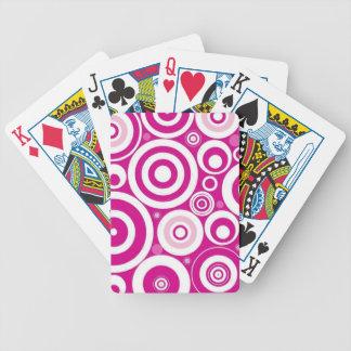 Diseñador rosado retro del círculo cartas de juego