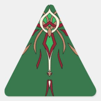 Diseñador verde de Starburst del día del St Calcomanía Trianguloada