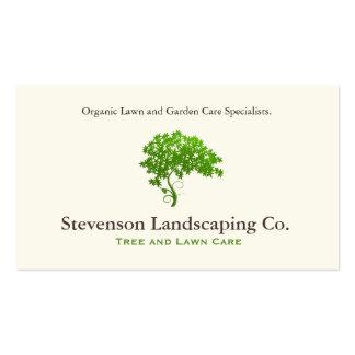 Diseñador verde del paisaje del cuidado del césped tarjetas de visita