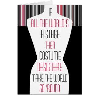 Diseñadores de vestuario tarjetón