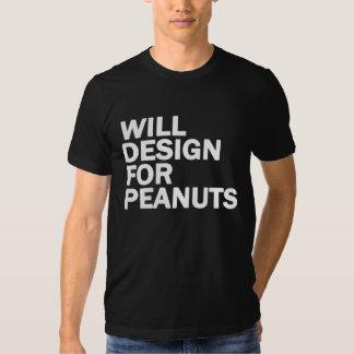 Diseñará para los cacahuetes playera