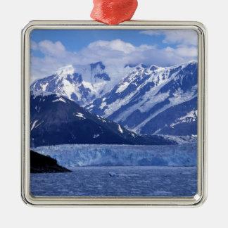 Disenchantment Bay and Hubbard Glacier, Square Metal Christmas Ornament