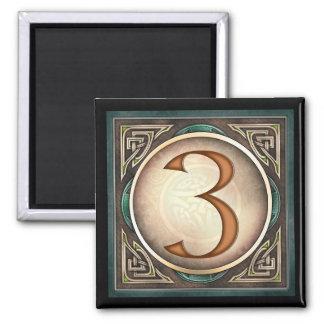 Diseñe A 3 - los imanes célticos del número