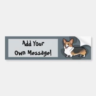 Diseñe a su propio mascota etiqueta de parachoque