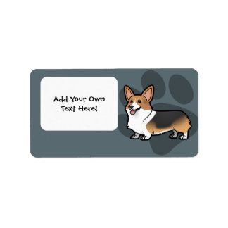 Diseñe a su propio mascota etiqueta de dirección