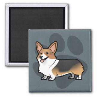 Diseñe a su propio mascota imán cuadrado