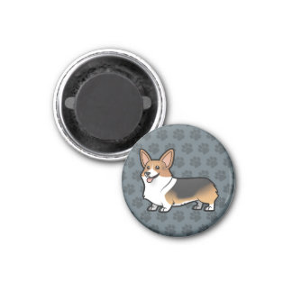 Diseñe a su propio mascota imán redondo 3 cm