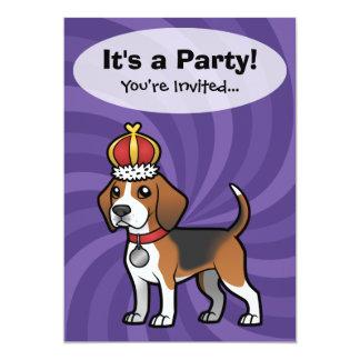 Diseñe a su propio mascota invitación 12,7 x 17,8 cm