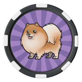 Diseñe a su propio mascota juego de fichas de póquer