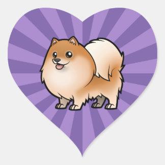 Diseñe a su propio mascota pegatina en forma de corazón