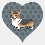 Diseñe a su propio mascota pegatinas de corazon
