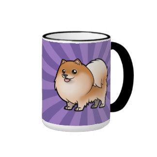 Diseñe a su propio mascota taza de dos colores