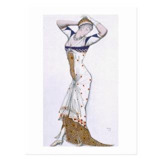 Diseñe de una fantasía de Costume moderno, 1912 (c Postal