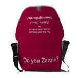 Diseñe la su propia bolsa de mensajero del carrito bolsa de mensajeria
