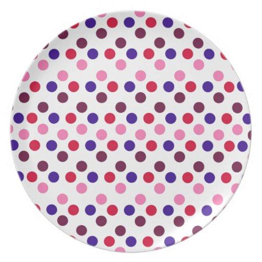 Diseñe los puntos redondos simples Polk de la moda Plato Para Fiesta