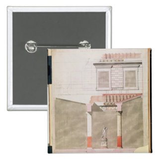 Diseñe para el atrio del palacio de Pompeiian Pin Cuadrado