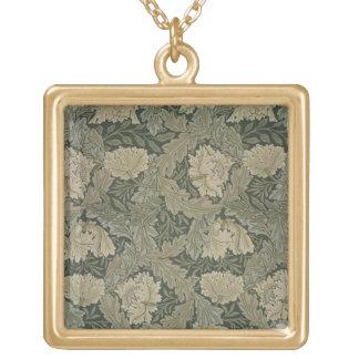 """Diseñe para el papel pintado del """"pasto"""", 1885 collar dorado"""