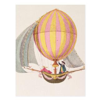 Diseñe para un dirigible, francés, c.1785 tarjeta postal