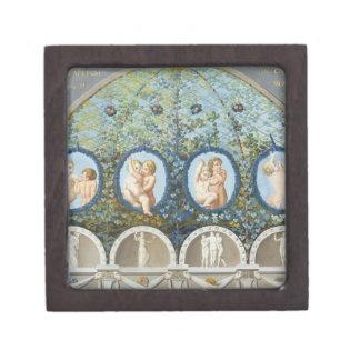 Diseñe para un fresco del techo, c.1780 publicado  cajas de recuerdo de calidad